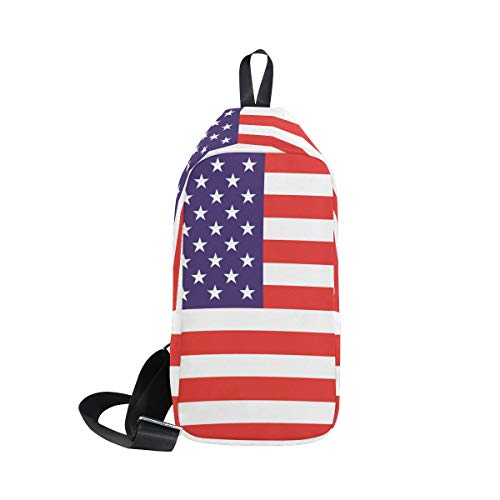 American Men amp; Backpack Shoulder Small Sling Bag For Waterproof Chest Cross Flag Women Body Bennigiry TOqdwpT