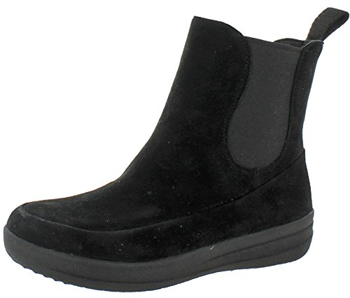 Women's FitFlop Suede FF Black Ankle Boots Chelsea Lux awqwxrSdp