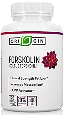 100% Pure Forskolin Extract for Weight Loss. 120 Veg. Capsules 500mg per serving. High Potency cAMP activator Coleus Forskohlii 20% Forskolin. Fat Burner, Weight Loss Supplement for Men & Women