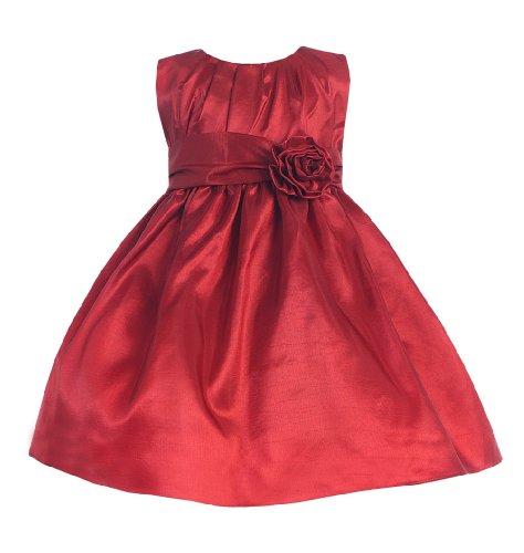 Sweet Kids Baby-Girls Pleated Taffeta Flower Girl Dress