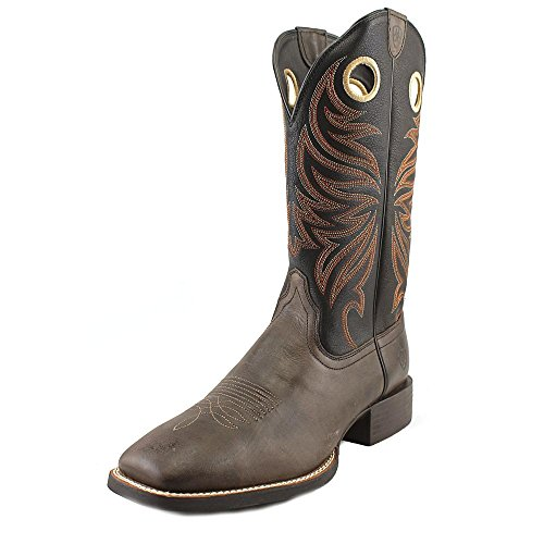 Ariat Mens Sport Rider Wide-toe Western Cowboy Boot Chocolate