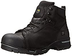 Timberland PRO Men's 6 Inch Endurance PR CSA Steel Toe Work and Hunt Boot, Black Full Grain Leather, 8 W US
