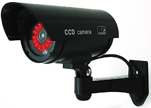 UniquExceptional Black Dummy Fake Security Camera Cameras, 30 Illuminating LEDs (Black) UDC4black
