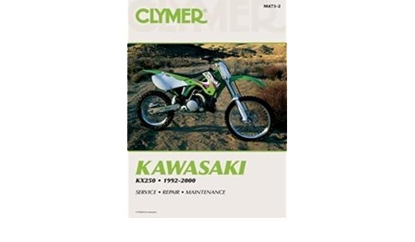 amazon com clymer repair manual for kawasaki kx250 kx 250 92 00 rh amazon com 03 KX250 1992 KX250 Parts