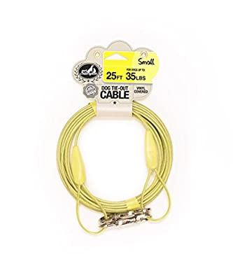 Pet Champion Small Tie Out Cable for Dogs Up to 35 Pound, 25 Feet by STOUT STUFF LLC