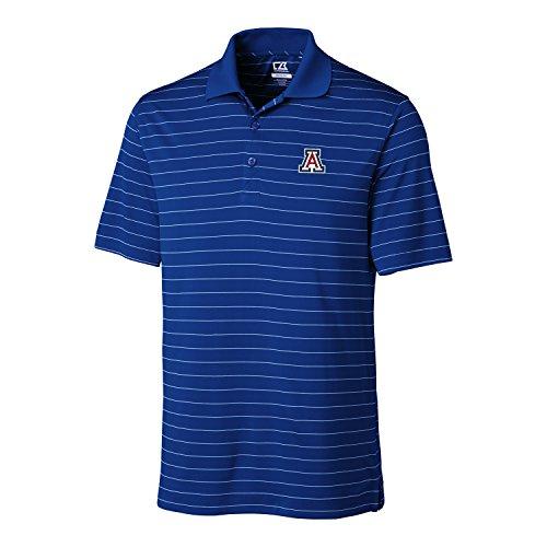Cutter & Buck NCAA Arizona Wildcats Men's CB Dry Tec Franklin Stripe Polo,X-Large,Tour Blue