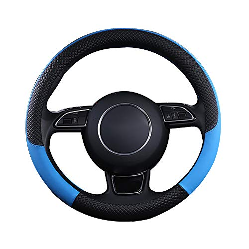 Covers Halfback (Koneksy PU Leather Car Steering-Wheel Cover, Universal Durable Protective Anti-Slip Car-Styling Sport Auto Steering Wheel Glove)