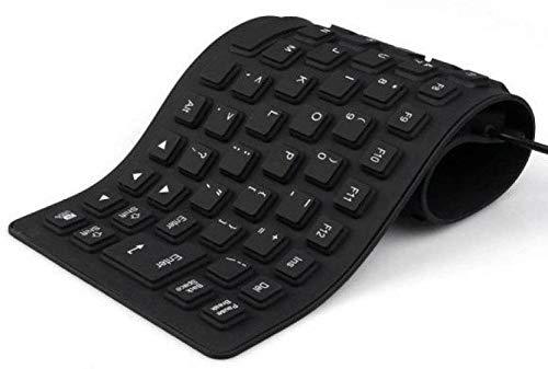 BLENDIA Premium Series Flexible Foldable Wired USB Laptop Keyboard Wired USB Laptop Keyboard  Black