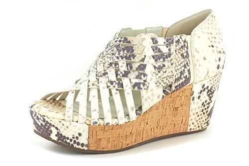 Chocolat Blu Web Wedge - Woven Platform Sandal - Women's Leather Shoes Embossed Snake 6