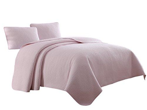- Cozy Beddings Elliott Quilt Set, Twin/Twin XL, Soft Rose