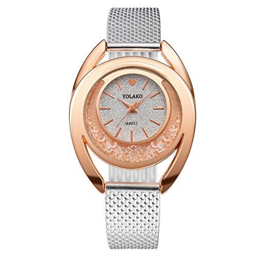 (Hessimy Womens Fashion Watches New Ladies Business Bracelet Luxury Crystal Watch Casual Plastic Sport Girl Birthday Gift Analog Quartz Wrist Watches for Women On Sale)