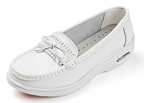 bdf21d8f739 Vivident Genuine Leather Medical Loafers Soft Nurse Shoes Professional  Working Women Flats - Buy Online in UAE.
