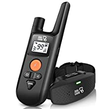 Dog Shock Collar - Dog Training Collar with Remote, 3 Training Modes, Up to 1000Ft Remote Range, 0~99 Shock Levels, Beep, Vibration,Shock, Rechargeable Waterproof Remote Shock Collar for Dogs