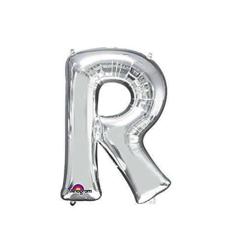 Regina 106450.9, Balão Metalizado Super Shape Letra R Pack, Prata