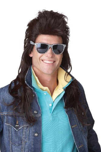 [California Costumes 80S Rock Mullet Wig, Brown, One Size] (80s Rock Costumes)