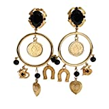 Dolce & Gabbana - Gold Brass Sicily Charms Earrings