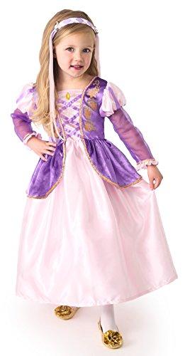 (Little Adventures Satin Rapunzel Girls Princess Costume - X-Large (7-9)