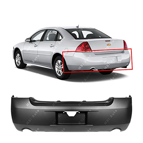 MBI AUTO – Primered, Rear Bumper Cover for 2006-2013 Chevy Impala W/ Dual Exhaust 06-13, GM1100736