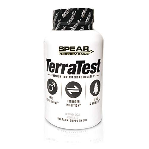 TerraTest – Premium, Powerful, Natural Testosterone Booster- Boost Stamina, Increase Strength Build Muscle Enhance Libido and Promote Energy Vitality Speed Fat Loss Increase Endurance