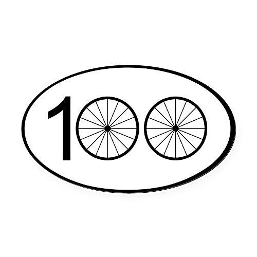 CafePress - Century Ride - Oval Car Magnet, Euro Oval Magnetic Bumper Sticker (Best Bike For 100 Mile Ride)