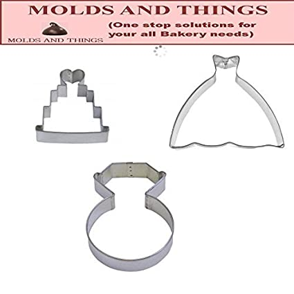 Ball Gown, Wedding Dress Cookie Cutter, Engagement Ring/ring Diamond Cookie  Cutter,