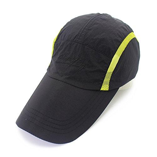 (Puli Mens Outdoor Waterproof Quickdrying Long Bill Golf Cap Sun Hat (Black))