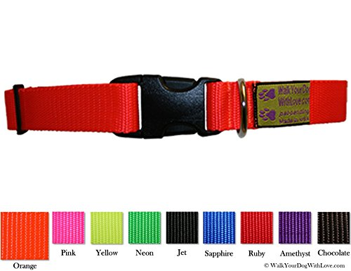 Colorful Quality Dog Collars, Sport Edition, 11-16 Inch Neck