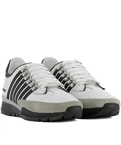 Dsquared2 Homme SNM010111570001M072 Blanc Cuir Baskets