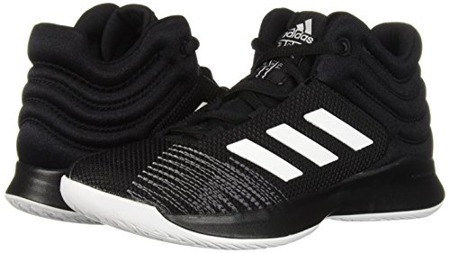 adidas Unisex Pro Spark 2018 Basketball Shoe, Black/White/Grey, 2.5 M US Little Kid by adidas (Image #6)