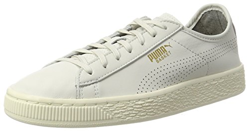 Unisex whisperwhite Adulto Zapatillas Puma Soft Blanco White Classic Basket wHTqIzF