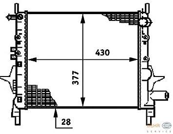 RENAULT TWINGO 8MK376720011 Radiator By HELLA: Amazon co uk: Car