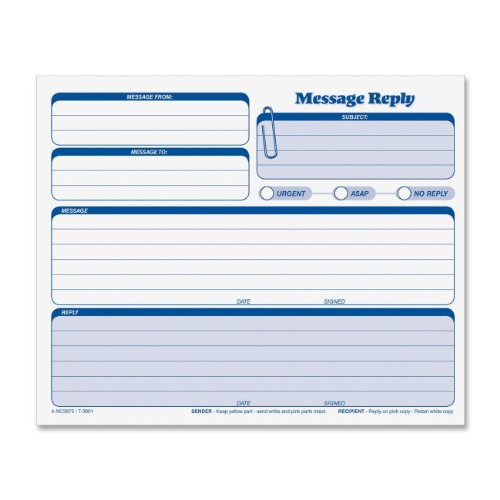 TOPS Snap-Off Rapid Letter Message Form, Triplicate, 8.5 x 7 Inches, 50 Sets per Pack (3801) ()