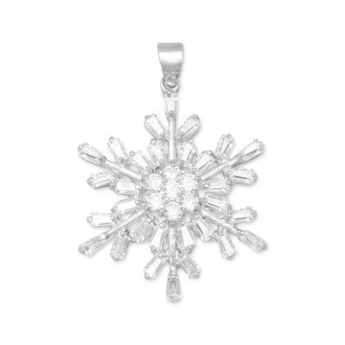 - MMA Cubic Zirconia Snowflake Pendant