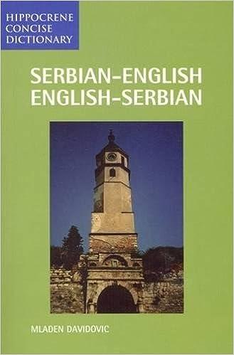 Serbian/English-English/Serbian Concise Dictionary