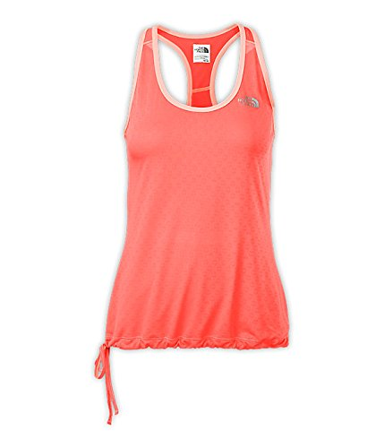 The-North-Face-Womens-Eat-My-Dust-Mesh-Tank-Fiery-Coral-L