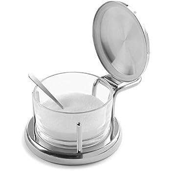 Amazon Com Salt Cellar Spice Jars Stainless Steel Grind