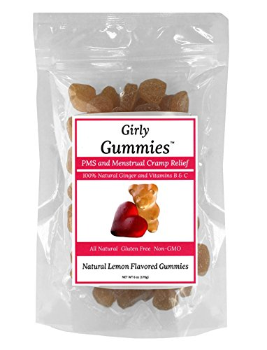 Girly Gummies All Natural PMS and Menstrual Cramp Relief With the #1 Natural Remedy: Ginger and Vitamins B & C. Aspirin-Free, Caffeine-Free, Gluten-Free, Non-GMO, Soy-Free, Dairy-Free, Wheat-Free Review