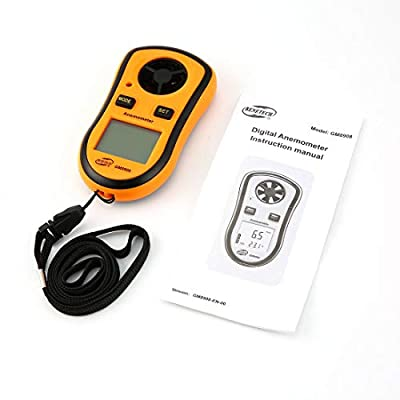 Benetech GM8908 Digital Anemometer Thermometer Wind Air Speed Gauge Meter Windmeter Temperature Tester Poratable LCD Display