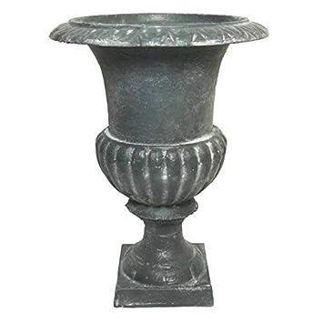 L\'Héritier Du Temps Vase Vasque Jardinière en Fonte Grise Style ...