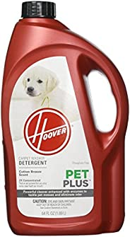Hoover PETPLUS Concentrated Formula, 64oz Pet Stain and Odor Remover, AH30320, Red