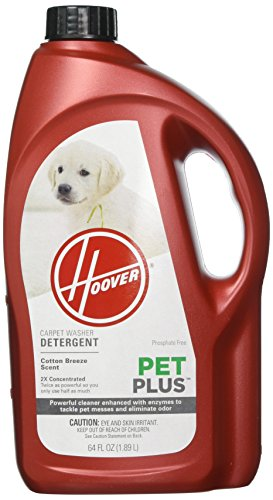 Hoover PETPLUS Concentrated Formula, 64oz Pet Stain and Odor Remover, AH30320, Green