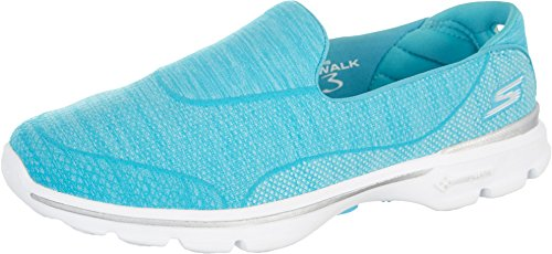 Skechers Performance Women's Go Walk 3 Super Sock 3 Walking Shoe, Turquoise, 8 M US