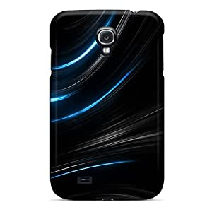 Premium Durable Curves Light Beams Fashion Tpu Galaxy S4 Protective Case Cover