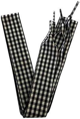 """TMYQM 120センチメートル/ 47"""" ロングフラットのファッションチェック柄リボン靴ひも英国スタイル格子縞の靴ひも2.5センチメートル/ 1インチ幅 (Color : No 24, Size : 120CM)"""