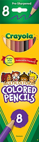 22 Pack CRAYOLA LLC FORMERLY BINNEY & SMITH CRAYOLA MULTICULTURAL COLORED ()