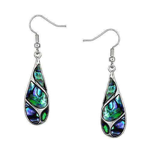 Natural Abalone Shell Earrings - 4