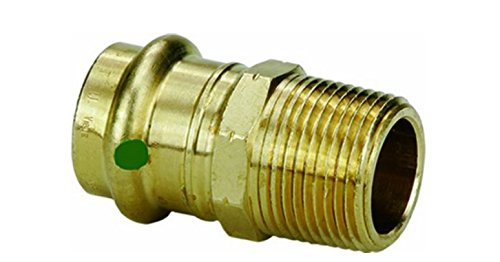 3-Pack VIEGA 77822 Propress Bronze Adapter with Male 1//2 x 3//4 P x Male NPT