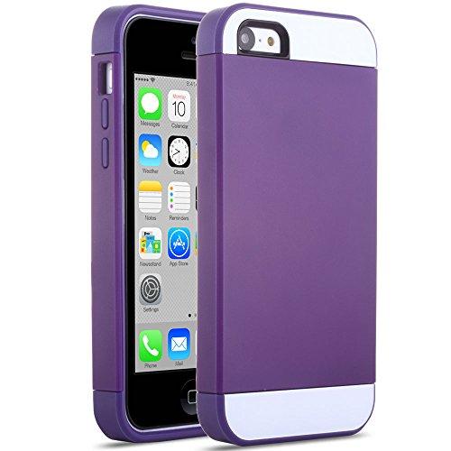iPhone 5C Case, ULAK Slim Apple iPhone 5C Cases Lightweight Dual Color Protective Case Cover for Apple iPhone 5C Purple