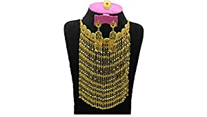 Indian Traditional Design Gold Plated Necklace