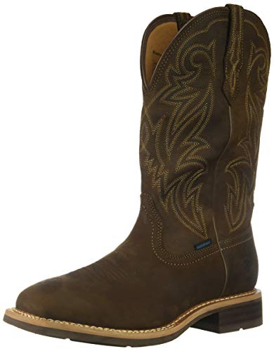 Ariat Men's Tombstone H2O Western Boot, Oily Distressed Brown, 10 2E US